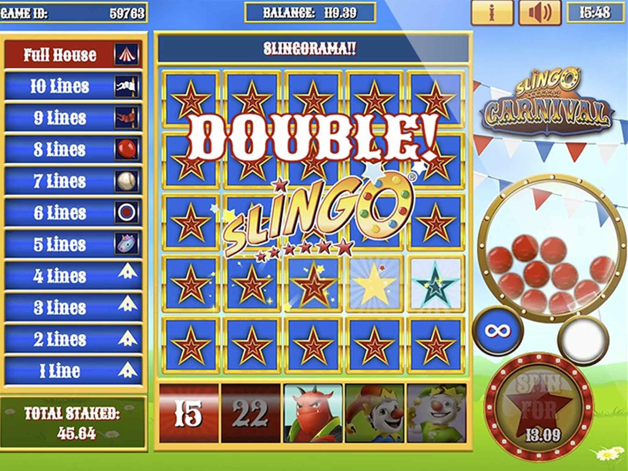 Slingo Carnival Slots Win