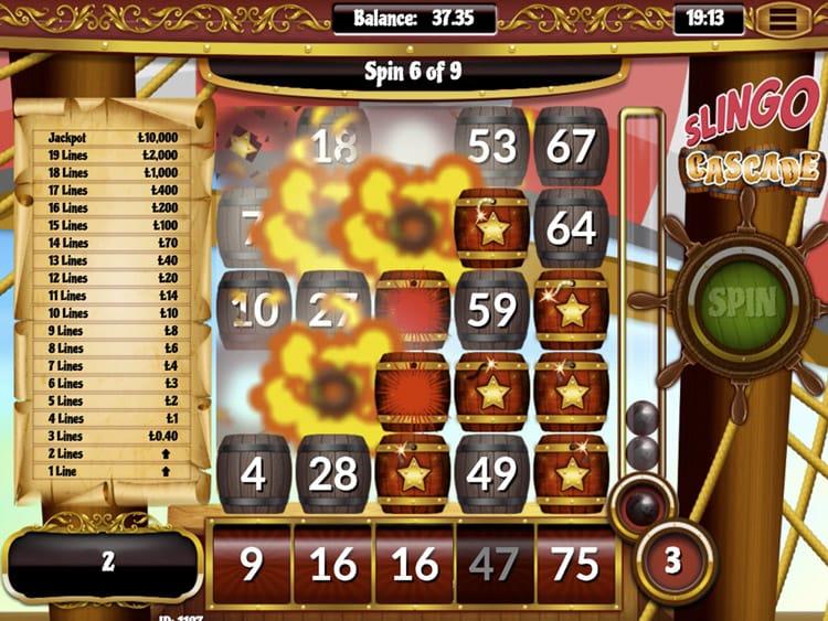 Slingo Cascade Slot Win