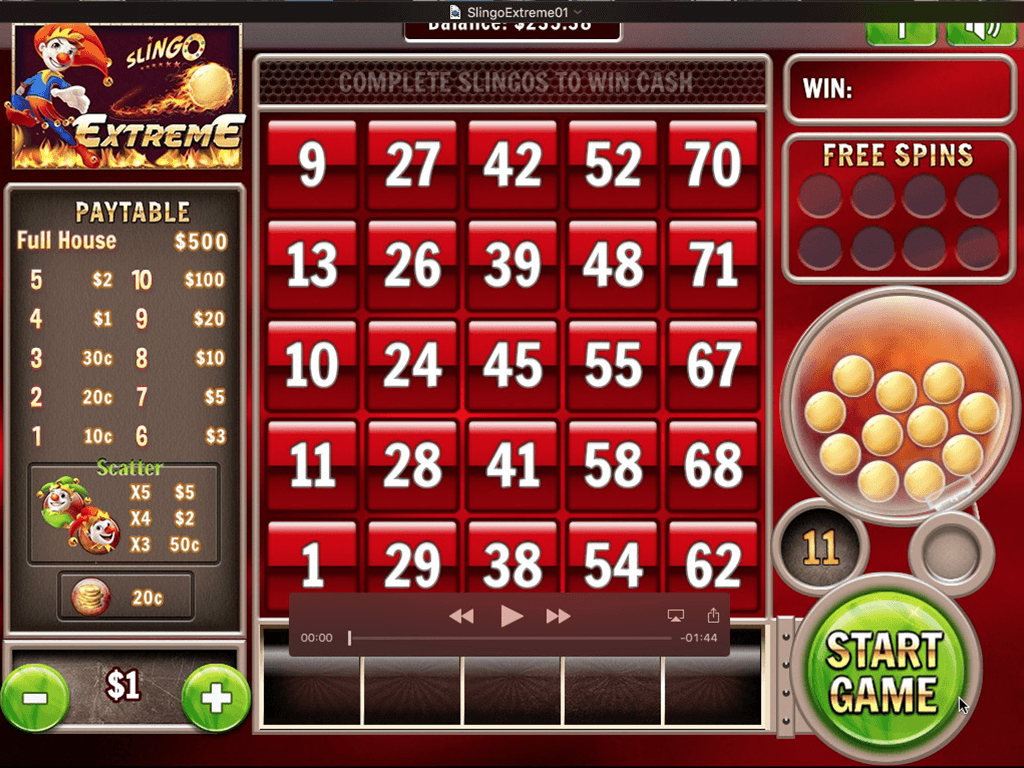 Slingo Extreme Slot Game