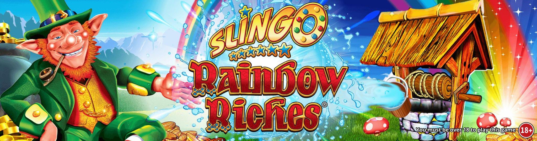 Slingo Rainbow Riches Slots Mega Reel