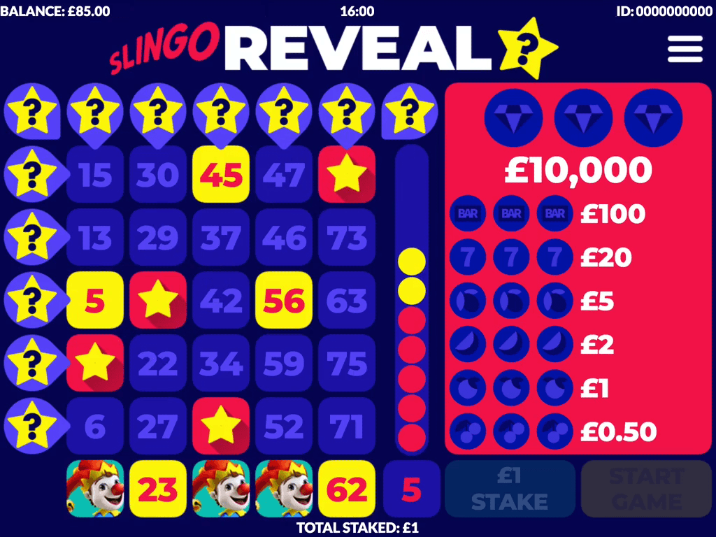 Slingo Reveal Slots Reels