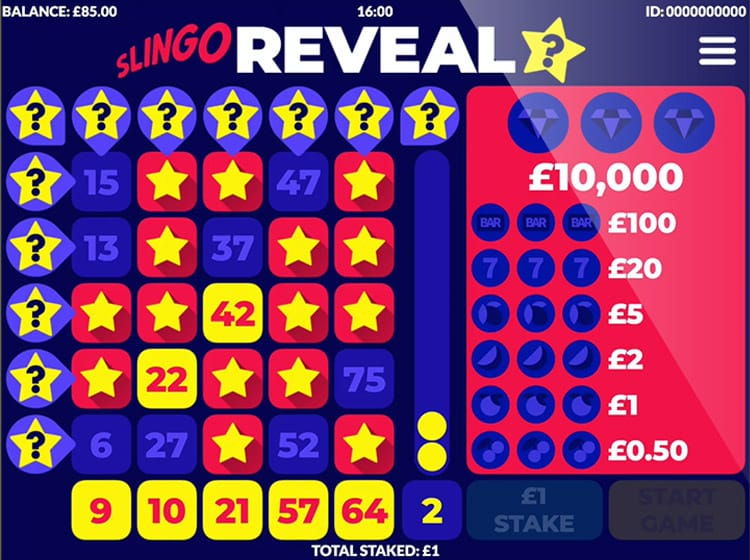 Slingo Reveal Slot Gameplay
