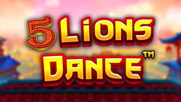 5 Lions Dance Slot Logo Mega Reel