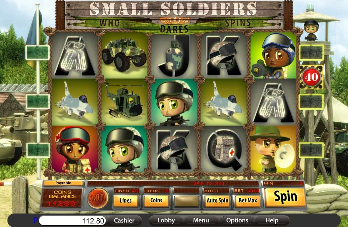 Small soldiers slots