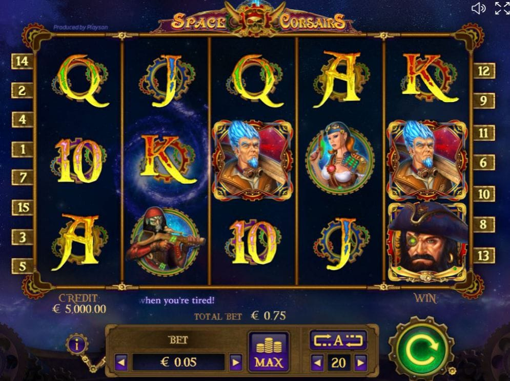 Space Corsairs Slots Uk