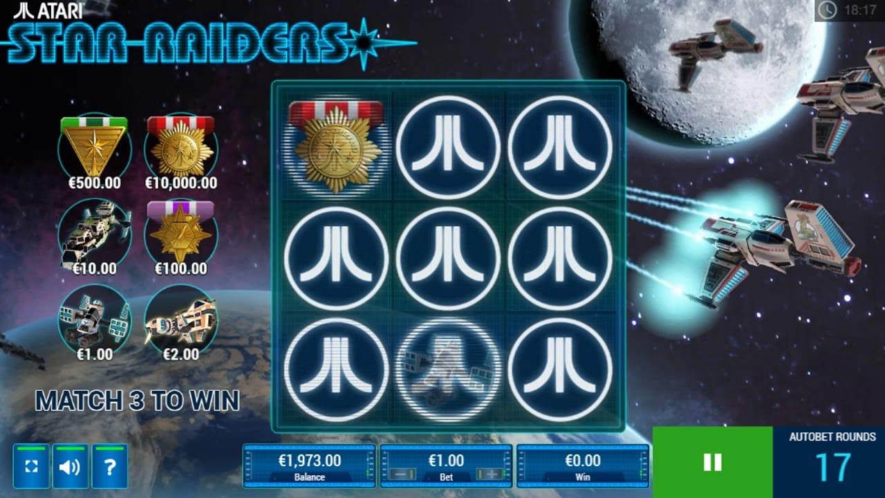Star Raiders Slots Bonus