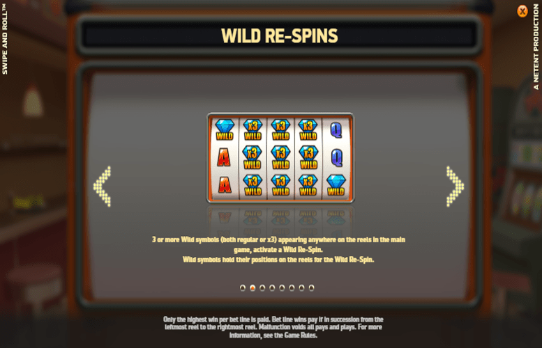 Swipe & Roll Slots Re-spins
