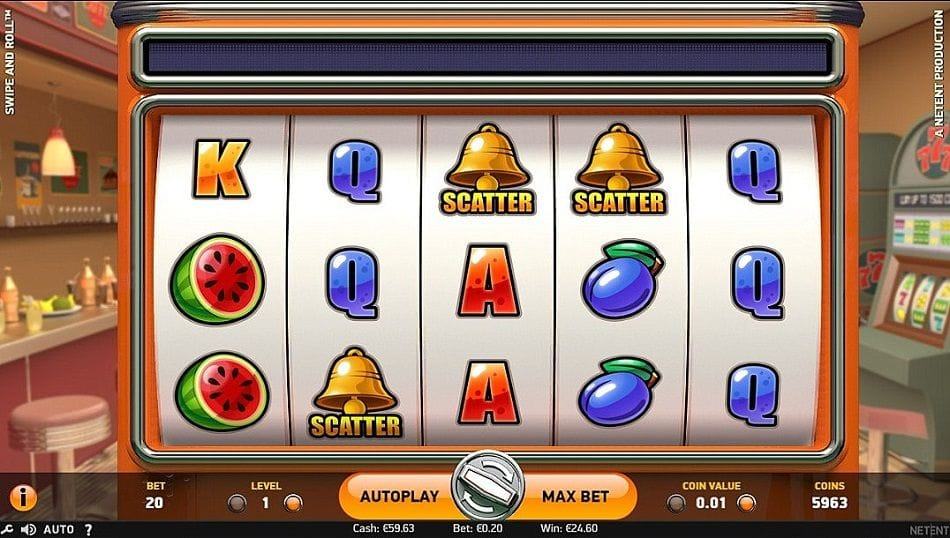 Swipe & Roll Slots Game