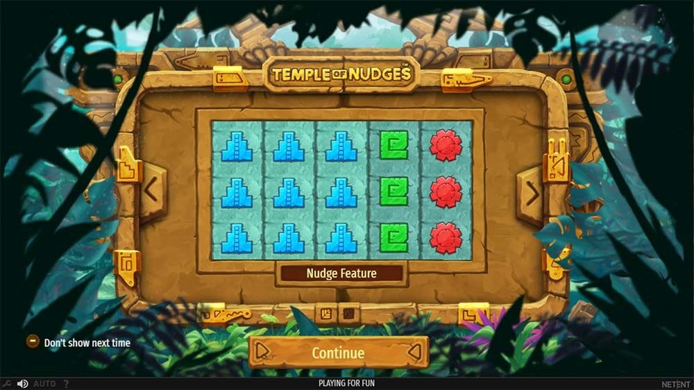 Temple of Nudges Slots Gameplay