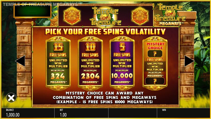 Temple of Treasure Megaways Slots Features
