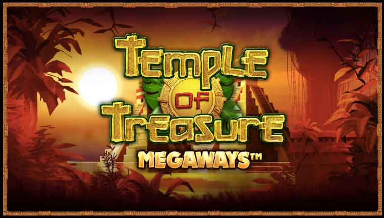 Temple of Treasure Megaways Slot Logo Mega Reel