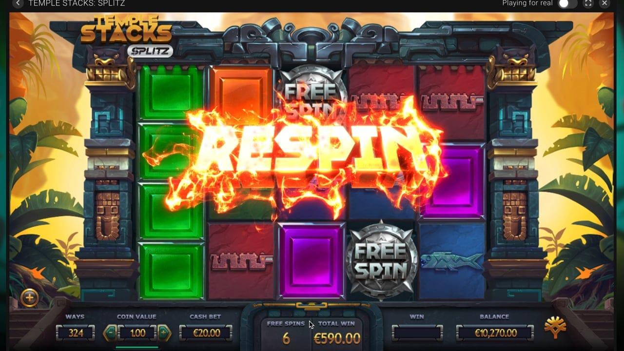 Temple Stacks: Splits Free Spin Slots