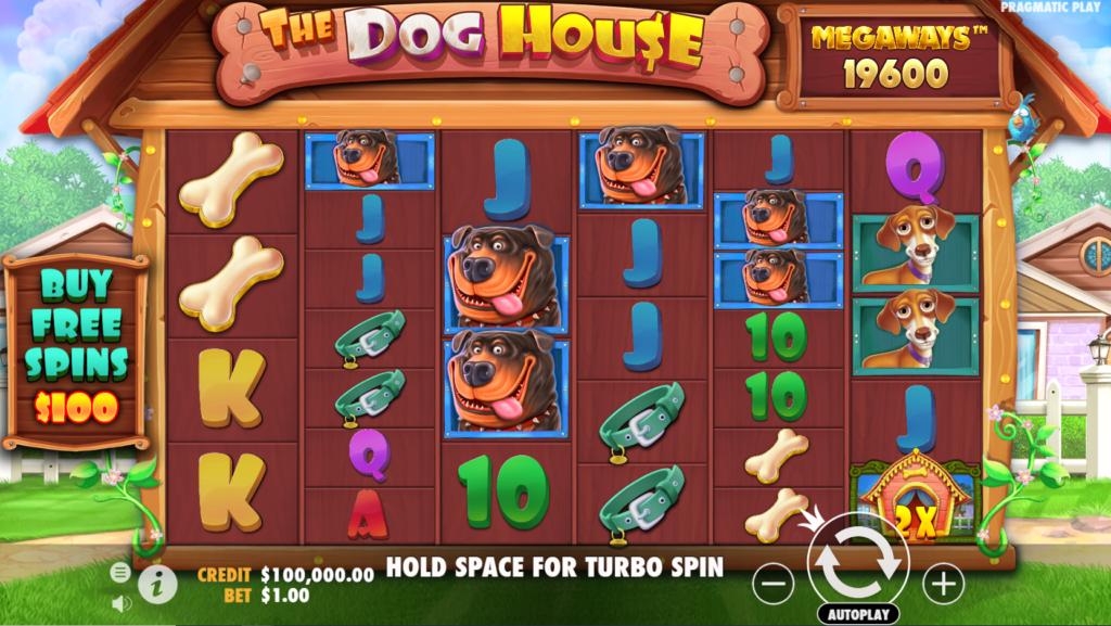 The Dog House Megaways Slots Gameplay