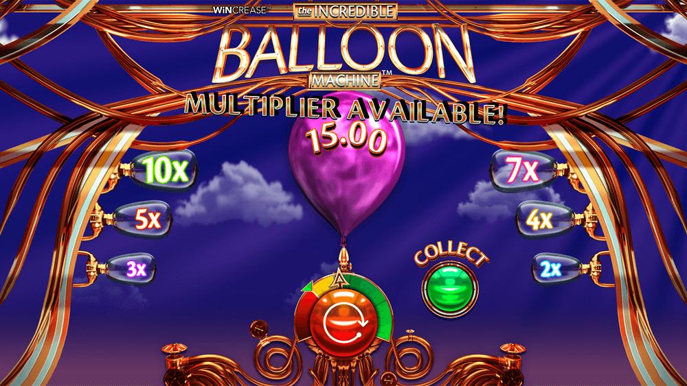 The Incredible Balloon Machine Slot Game Bonuses
