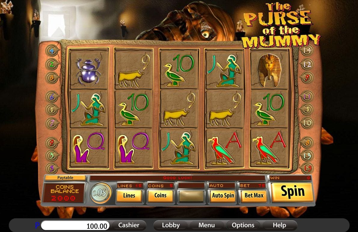The Purse of the Mummy Slot Gameplay