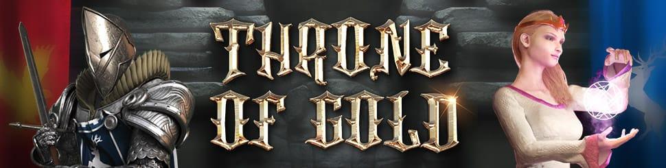 Throne of Gold Slot Logo Mega Reel