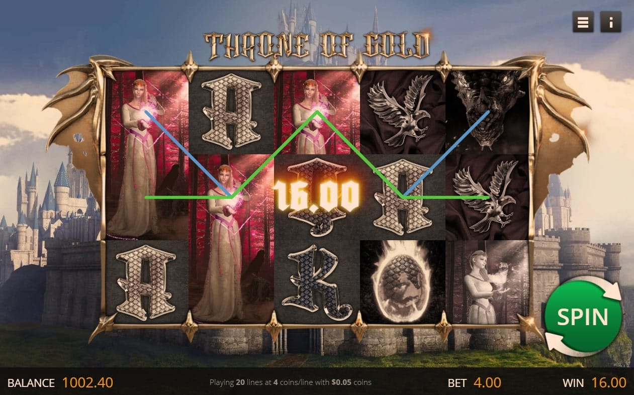 Throne of Gold Slot Gameplay