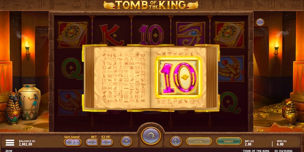 Tomb of the King Slot Paytable
