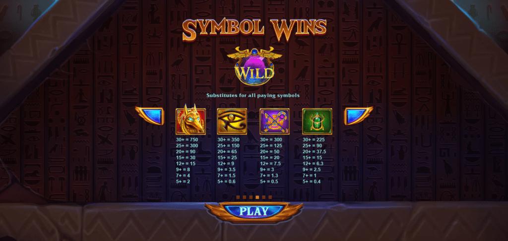 Vault of Anubis Slot Symbols